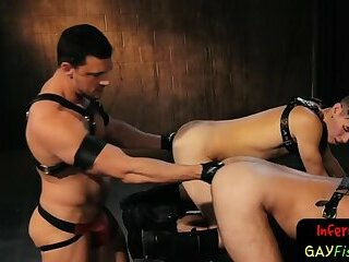 Fetish,Fisting,gay Horny submissives lean into fisting