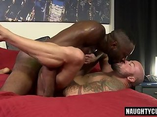 Anal,Ebony,Hunks,Interracial,gay,big dick,muscled Big dick gay hardcore anal sex and cumshot