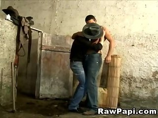 Anal,Blowjob,Bareback,gay,creampie,hardcore,cum shot Cowboy Fucks Hot Ass Hard In Horse Stable