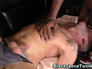 Anal,Amateur,Ebony,Interracial,Threesome,gay,fucking,group sex,muscle,bbc Black dudes jizz in 3way
