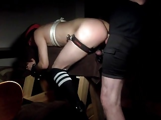 Men (Gay) Chastity slave fucked by master
