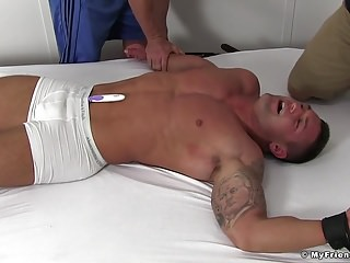Gay Porn (Gay);Amateur (Gay);Glory Hole (Gay);My Friends Feet (Gay);HD Videos Ripped twonk Brad Barnes is bound and ready for the tickling