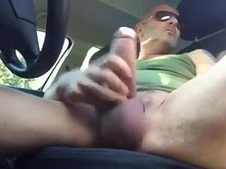 Amateur,Masturbation,Solo,car,gay Beating my dick on the side of the road
