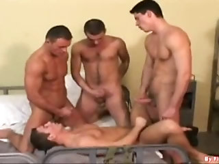 Anal,Cumshot,Uniform,group sex,fuck,foursome,studs,soldiers,gay Military School