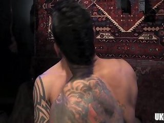 Hunks,Tattoo,gay,hung, Gay Muscle Arab gay anal with anal cumshot