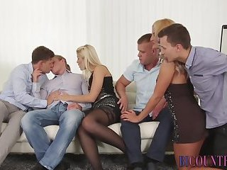 Cumshot,Bisexual,gay Bisexual group facialized