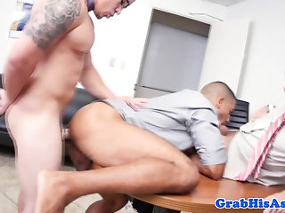 Bisexual,Ebony,Office,muscle,gay Office gays get down to anal fucking