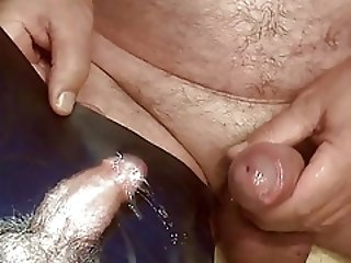 Men (Gay) Tribute for 42aris - cumshot on a hard cock and balls