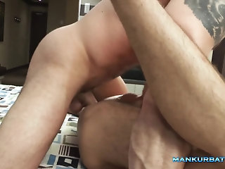Bears,Bisexual,cock 2 cock,gay Gay dudes with big cock enjoying hardcore anal