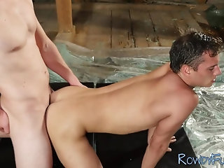 Bisexual,Bareback,cock 2 cock,gay Tattooed jock rails ass bareback