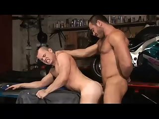 Anal,Cumshot,Big Cock,Body Builders,Domination,Hunks,Mature,Rimming,muscled,gay Boss Fucks his Cute Emplyee at the Garage