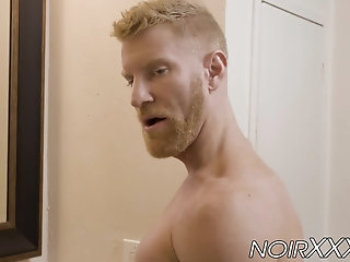 Anal,Interracial,Rimming,Tattoo,gay,hunk,rimjob,blond,muscle,black,bbc,beard,hardcore gay,BD,NoirXXX,bc,Johnny V Jaxx Maxim sticks his BBC inside blond bearded hunk Johnny V