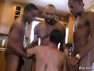 Bisexual,Ebony,Interracial,Pornstars,gay Woman Seeing A White Man Getting Fucked By Black Men