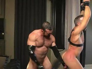 Domination,Fetish,gay,bdsm,toys,muscled sweet Rubber couple