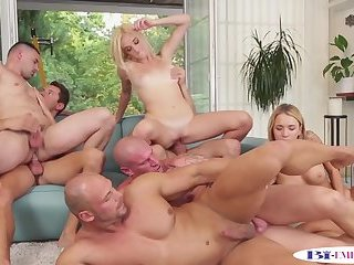 Anal,Cumshot,Bisexual,Fetish,Hunks,Party,group sex,gay Muscular hunks assfucking and plowing pussies