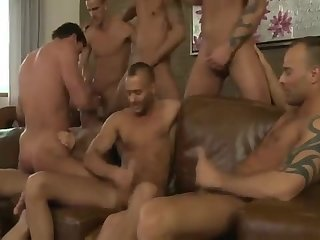 Anal,gay,ass,group sex,fuck,orgy,muscled nailed  By Seven stallions bareback