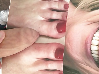 Cum Tributes (Gay);HD Gays Ruth Langsford Face and Feet Cum Tribute