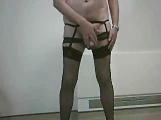 Men (Gay);Black Stockings;Black Black stockings cum