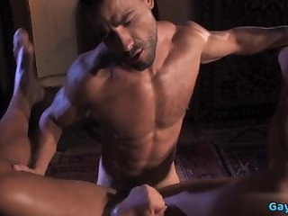 Anal,Hunks,Threesome,gay,hardcore,muscle Arab gay threesome and anal cumshot