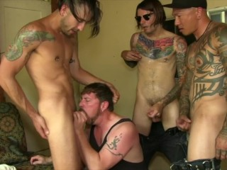 big;cock;hairy;tattoo;suck;sucking;cock;orgy;cum;facial;swallow;face;fuck;guy;maxx;studios;guy;criss;damian;dragon;Christop;jace,Daddy;Asian;Blowjob;Group;Gay;Interracial;Cumshot;Tattooed Men BJ Hut Foursome Cock Sucking Orgy