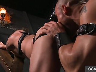 Bareback,anal sex,ass fucking,big dick,hairy,bald, smooth,big muscles,gay,HD Hardcore Gay Anal In The Leather Room