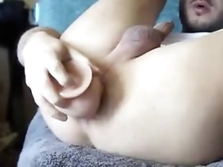 Amateur,Dildo,Object Insertion,gay My buddy stuffs toy into his hot ass