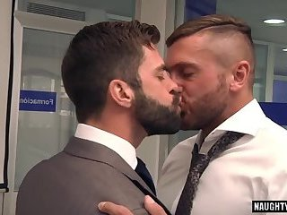 Hunks,Blowjob,Office,gay,muscle,gay anal Muscle gay anal sex and cumshot