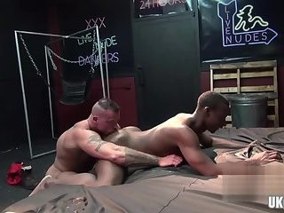 Anal,Big Cock,Ebony,Interracial,Blowjob,gay,muscle, bubble butt Muscle gay rough sex and cum inside