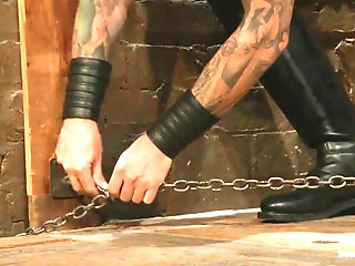 Anal,Cumshot,Masturbation,Big Cock,Bondage,Domination,Hunks,Rimming,Blowjob,slave,leather fetish,bdsm sex,wax play,gay,Christian Wilde,Dylan Knight Train a new slave boy