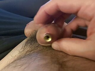 Man (Gay);HD Videos Peehole Stretching After Two Hours of Plug