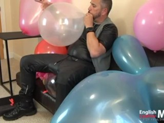 balloons;balloon-pop;balloon;looner;looning;cigar;leather;cum-on-balloon;balloon-cum;blowing-balloons;blow-to-pop;humping-balloon;dilf;daddy,Daddy;Fetish;Solo Male;Gay;Uncut;Mature;Verified Amateurs English Leather Master smokes cigars and jerks while blowing and popping balloons PREVIEW