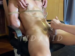 nipples,nipple play,muscles,muscle,muscle men,worship,edging,nipple licking,lean muscle,asian muscle,asian,big pecs,gay,HD Hot Chinese DOM SUb Doggy nipple play eding session