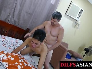 Asian,Bisexual,Pov,Bareback,gay,HD Slim asian pounded by unsaddled DILF after enjoying blowjob