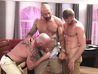 Anal,Cumshot,Big Cock,Hunks,Pornstars,Threesome,Blowjob,Bareback,group sex,muscle,jocks,daddy,gay dads raw poker night