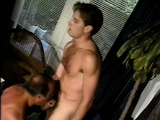 Bears (Gay),Blowjob (Gay),Gays (Gay),Men (Gay),Vintage (Gay) Gorgeous boy has a horny daddy plowing his tight anal hole from behind