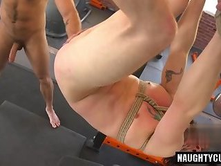 Anal,Amateur,Bondage,Domination,Fetish,swallow,military,son,gay Hairy son bound with cumshot