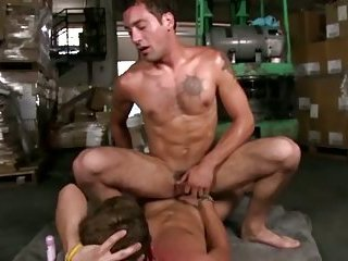 Gay amateurs give each other facials after hardcore sex