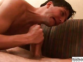 Dude gets his very first gay facial