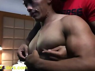 nipples,nipple play,muscles,muscle,muscle men,worship,edging,nipple licking,lean muscle,asian muscle,asian,big pecs,gay,HD Hot Muscle Asian guy getting nipple played and edged!