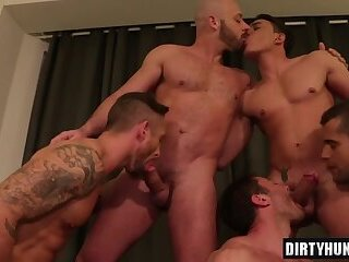 Anal,Big Cock,Party,Bareback,group sex,studs,muscle,gay,HD Muscle Gay Barebck Orgy