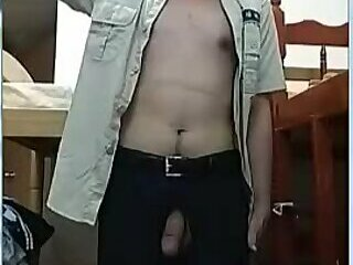Cumshot,Amateur,Masturbation,Solo,Asian,Homemade,Uniform,gay Cute Chinese Police Officer Solo
