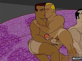 Anal,Hunks,bear,big dick,toons,comics,gay Big dick bear anal sex and cumshot