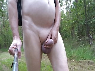 Amateur (Gay);Big Cock (Gay);Masturbation (Gay);Outdoor (Gay);Belgian (Gay);HD Videos 4 girls only: Naked walk in the forest while masturbating!