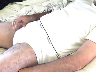 Amateur (Gay);Bear (Gay);Daddy (Gay);Handjob (Gay);American (Gay);HD Videos Morning Wood JO in Tighty Whities