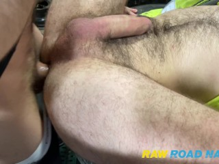 rawroadnation;bareback;amateur;ginger;tradie;gay;big-cock;european,Bareback;Euro;Big Dick;Group;Gay;Hunks;Reality;Amateur;Tattooed Men 2 REAL sluts on there back's on the tyre machine with a few guys lined up