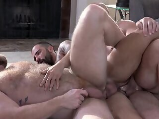 Bears,Handjob,Mature,Rimming,Tattoo,Threesome,group sex,hairy,kiss.,gay 33