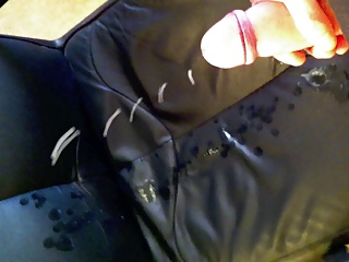 Men (Gay);Chair;Leather Big cum load on my leather chair IV