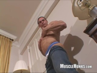 latin;bodybuilder;thong;cum,Latino;Muscle;Solo Male;Gay;Handjob Tito Ortiz 2