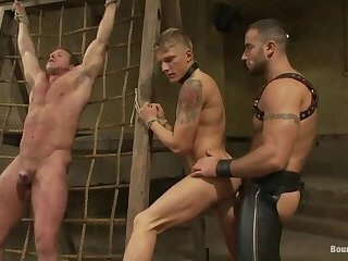 Bondage,Domination,Fetish,Fisting,Interracial,Pornstars,Tattoo,group sex,bdsm,spanking,muscle,punishment,daddy,gay,Spencer Reed,Phillip Aubrey Phillip Aubrey in Boundgods Pain Limit – Live Shoot