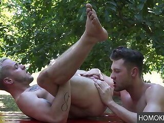 Anal,Rimming,Tattoo,Blowjob,cowboy,gay,Colton Grey,Jacob Peterson Gay Outdoors Anal Experience